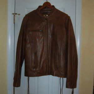 Wilsons Leather Wmn's Cafe Racer Jacket w Lining